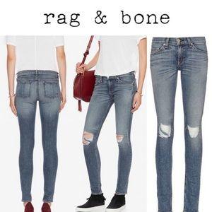 Rag & Bone Barons Distressed Skinny Jean